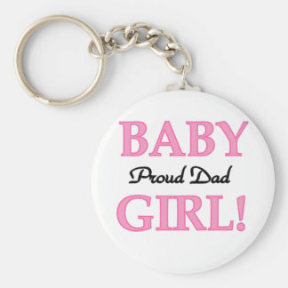 Proud Dad of Baby Girl Tshirts and Gifts Keychain