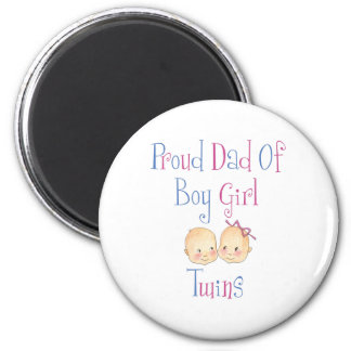 Proud Dad of Boy Girl Twins Magnet