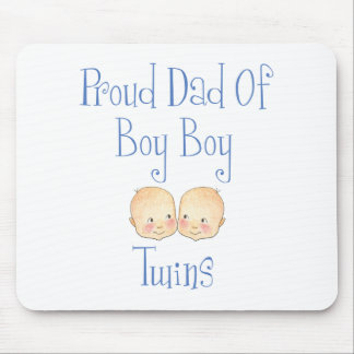 Proud Dad of Boy Twins Mouse Mats