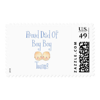 Proud Dad of Boy Twins Postage