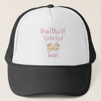 Proud Dad of Girl Twins Trucker Hat