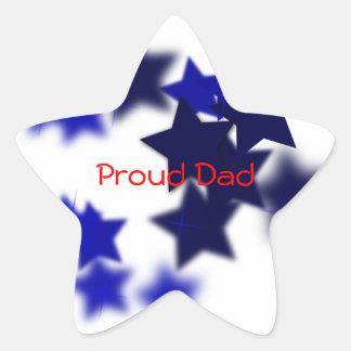 Proud Dad Star Sticker