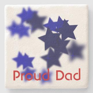 Proud Dad Stone Coaster
