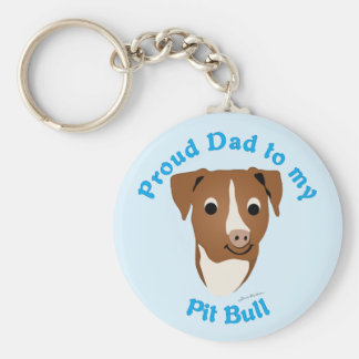 Proud Dad to my Pit Bull Keychain