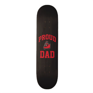Proud Dad with Matador on Black Skateboard Deck