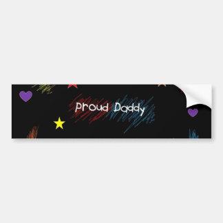 Proud Daddy Car Bumper Sticker