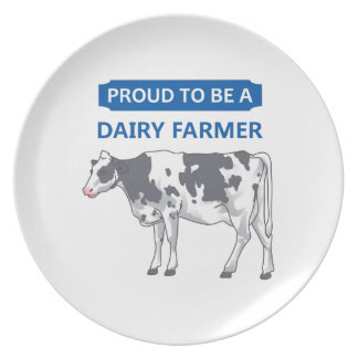 Proud Dairy Farmer Party Plate