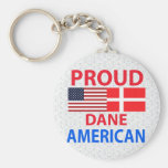Proud Dane American Key Chains