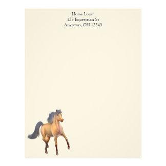 Proud Dappled Bay Horse Letterhead