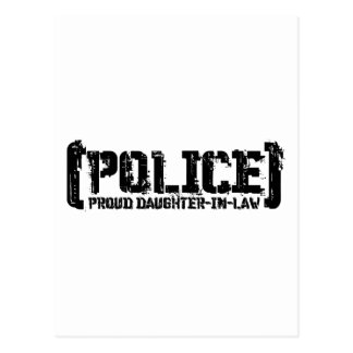 Proud Daughter-in-law - POLICE Tattered Postcard