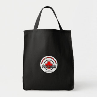 Proud Daughter of a Nurse grocery tote bag