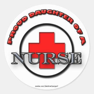 Proud Daughter of a Nurse stickers