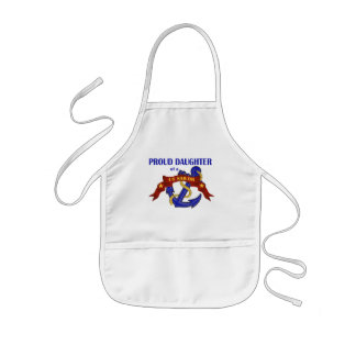 Proud Daughter of a US Sailor Kids' Apron