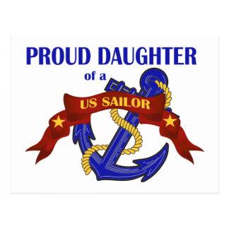 Proud Daughter of a US Sailor Postcard