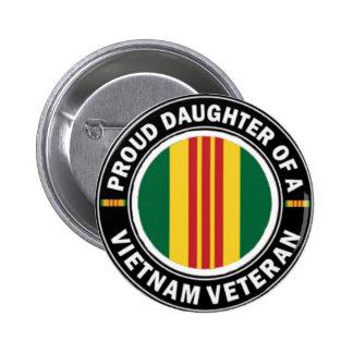 Proud Daughter of a Vietnam Vet Button