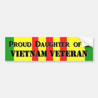 Proud Daughter of a Vietnam Vet Car Bumper Sticker