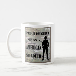 Proud Daughter of An American Soldier Coffee Cup Classic White Coffee Mug
