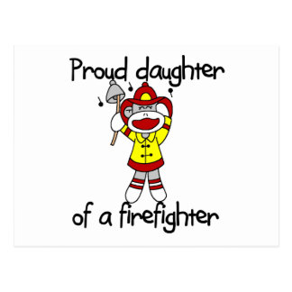 Proud Daughter of Firefighter Tshirts and Gifts Postcard