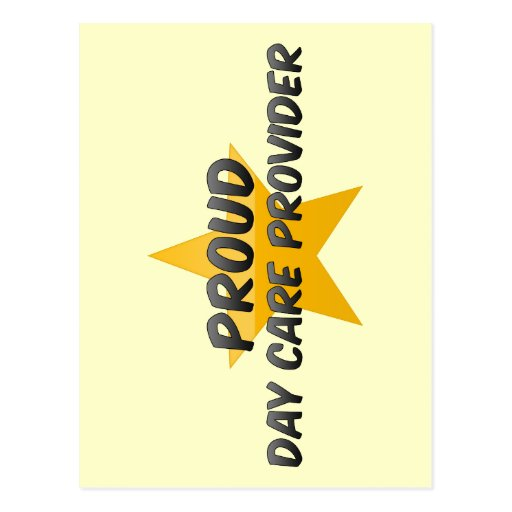 Proud Day Care Provider Postcard