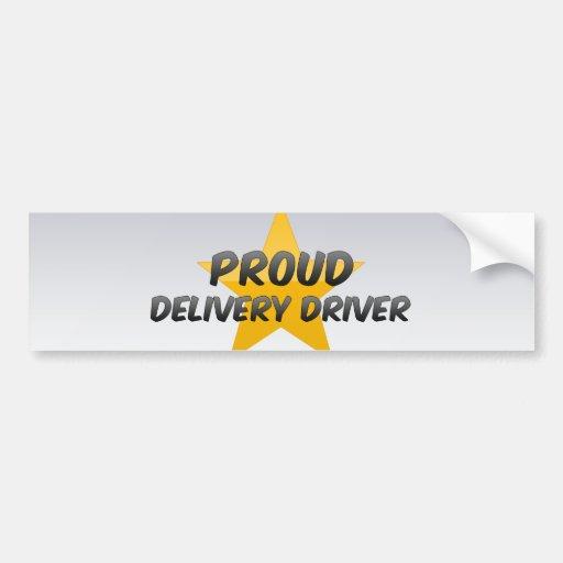 Proud Delivery Driver Car Bumper Sticker
