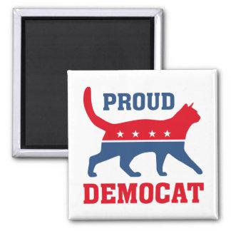 Proud Democat 2 Inch Square Magnet
