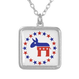 Proud Democrat Circle Stars Necklace