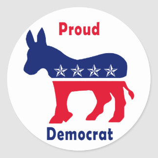Proud Democrat Classic Round Sticker