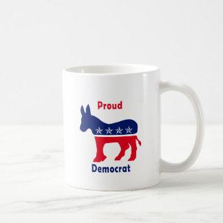Proud Democrat Classic White Coffee Mug