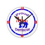Proud Democrat Clocks