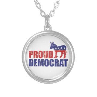 Proud Democrat Donkey Distressed Tan Jewelry