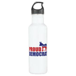 Proud Democrat Donkey Stainless Steel Water Bottle