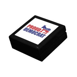 Proud Democrat Donkey Trinket Boxes