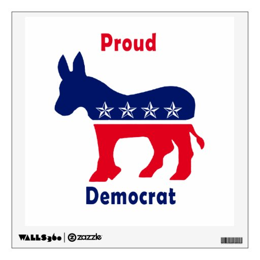 Proud Democrat Donkey with Stars Wall Stickers