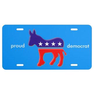 proud democrat license plate