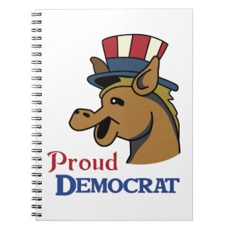 PROUD DEMOCRAT SPIRAL NOTEBOOK