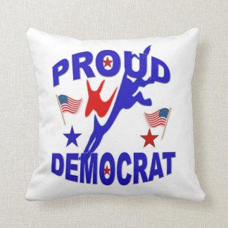 Proud Democrat Obama 2012 Throw Pillow