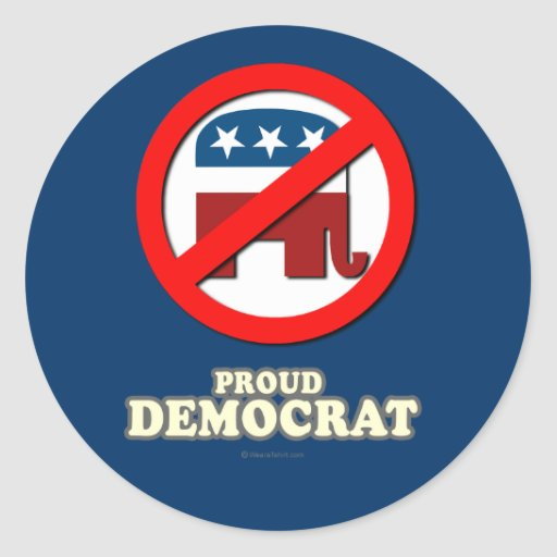 Proud Democrat Sticker
