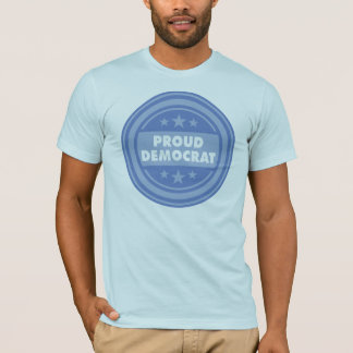Proud Democrat, Unisex Fit, Short Sleeve Blue Tee
