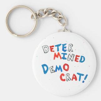 Proud democrats fun unique determined democrat basic round button keychain
