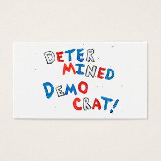 Proud democrats fun unique determined democrat business card