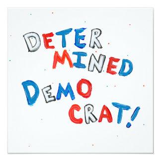 Proud democrats fun unique determined democrat card