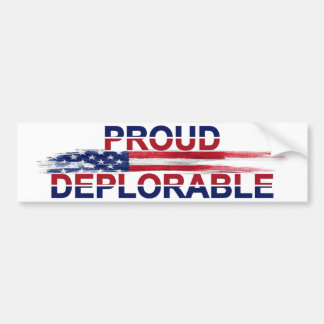 Proud Deplorable Bumper Sticker