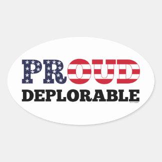Proud Deplorable Oval Sticker