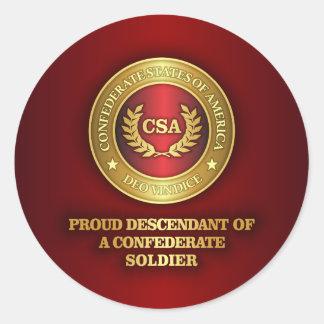 Proud Descendant Classic Round Sticker