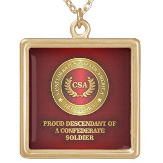 Proud Descendant Gold Plated Necklace