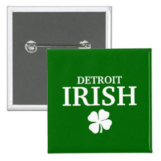 Proud DETROIT IRISH St Patrick s Day Pin