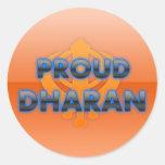 Proud Dharan, Dharan pride Round Stickers