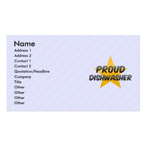 Proud Dishwasher Business Card