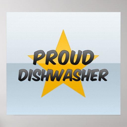 Proud Dishwasher Poster