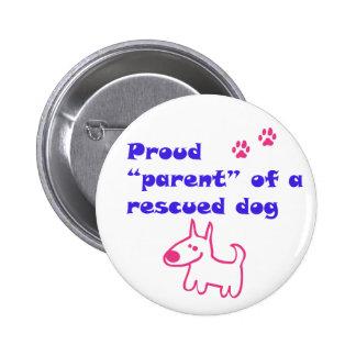 proud dog 2 inch round button